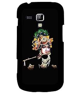 Samsung Galaxy S Duos S7562, Fuson Premium Lord Sri Krishna Designer Metal Printed with Hard Plastic Back Case Cover