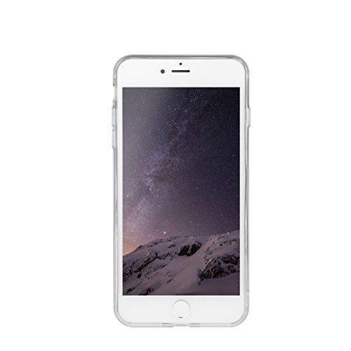 DBIT iPhone 7 Case, PU Pelle Flip Placcatura TPU Custodia Protezione Case Cover per Apple iPhone 7,Argento arco di Trionfo