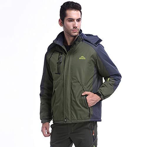 SUNFANY Winterjacke Mantel Jacke Mens Winter Outdoor Kaschmir Verdickung ReißVerschluss Hoodie Sport Outdoor Assault Coat.L - 8XL(Armeegrün,XXXXXXL) -