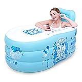 Inflatable Bath Home Einfache aufblasbare Badewanne Erwachsene Badewanne Haushalt Badewanne Kunststoffwanne Faltende Dicke Badewanne (Farbe: Blau, Größe: Trompete)