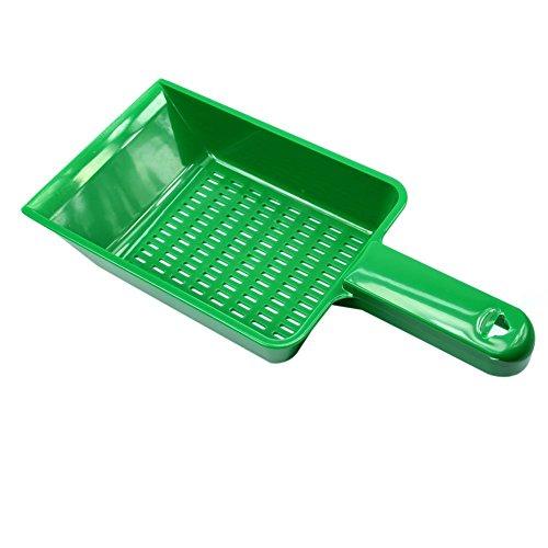 Estone - Pala de plástico para limpieza de arena de perro, gato...