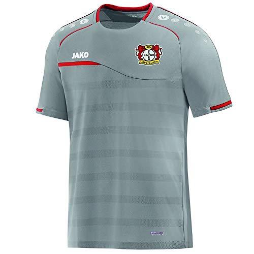 JAKO Herren Prestige (ohne Sponsoren), (Saison 19/20) Bayer 04 Leverkusen T-Shirt, grau, M
