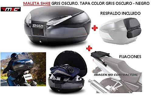 SHAD Kit BAUL Maleta Trasero SH48 Dark Grey litros