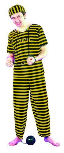 Déguisement prisonnier homme jaune Taille Unique