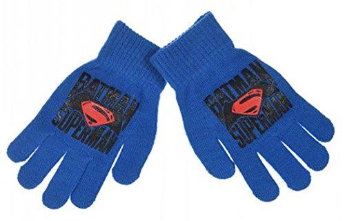Gants enfant garçon Batman VS Superman 4 couleurs Taille unique (3/8ans) Bleu