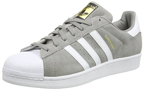 adidas Herren Superstar Suede Sneakers, Grau (Ch Solid Grey/Ftwr White/Ch Solid Grey), 47 1/3 EU