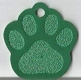 Hundemarken mit Gravur Hundemarke Tiermarke Adressanhänger Anhänger Hund Alu (Grün)
