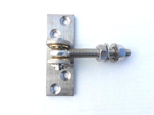 floristikvergleich.de EDELSTAHL Torangel einstellbar M14 Torband Scharnier Anschraubplatte 120x40x5 mm
