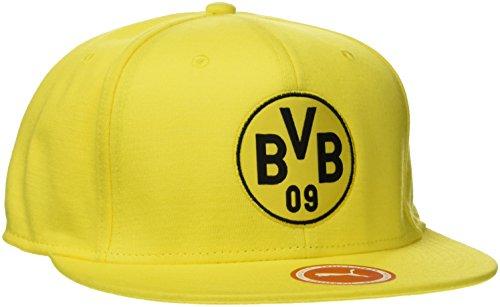 PUMA Bvb Stretchfit Logo Cap, Cyber Yellow-Puma Black, OSFA