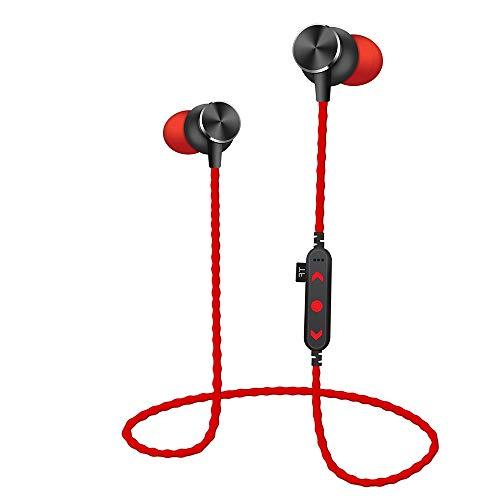 Elospy Bluetooth kabellose Kopfhörer, In Ear Ohrhörer 6 Stunden Spielzeit Wireless Sport Headphone Joggen/Laufen Magnetische mit Mic für iPhone iPad Android Smartphones Unterstützung TF Karte