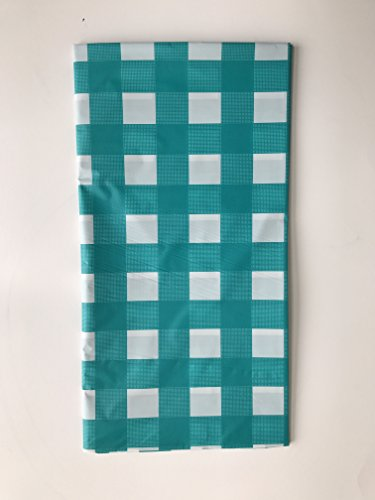 cm Gingham Schachbrett Einweg Kunststoff, rechteckige Tisch Cover grün ()