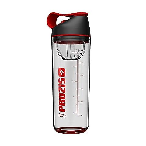 Prozis Neo Mixer Bottle Crystal 600 ml - Shaker de protéine couleur Neon Red avec capsule interne : Résistant aux chocs, sans BPA, sans odeur et 100 %