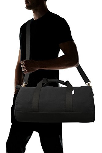 6a88268d0b Small Overnight Bag Sports Gym Bag for Women and Men - Portable Canvas  Weekend Bag Holdalls Travel Duffel Bag (2.0 black) - Buy Online in Oman.
