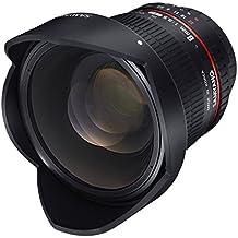 Samyang F1121903101 - Objetivo fotográfico DSLR para Nikon F AE (distancia focal fija 8mm, apertura f/3.5-22 UMC, Ojo de Pez, CSII), negro