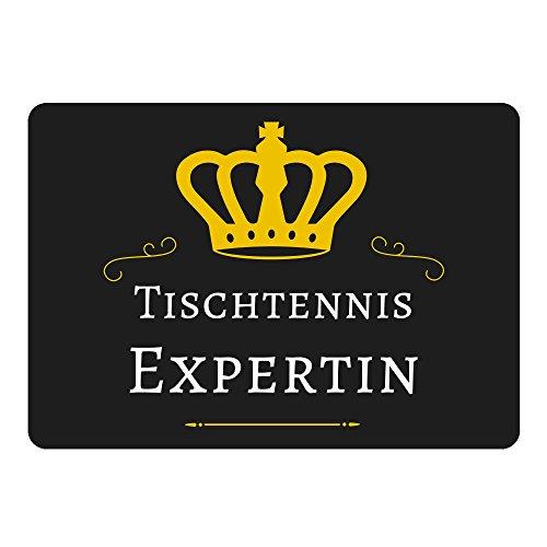 Mousepad Tischtennis Expertin schwarz