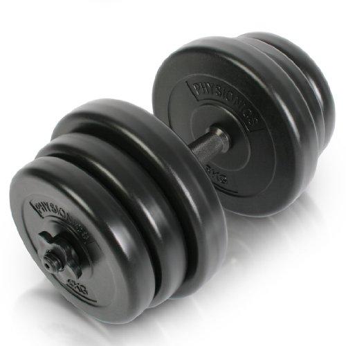 Juego de Mancuerna de Fitness y Pesas - 20KG - Pesas Musculación Discos y Barra
