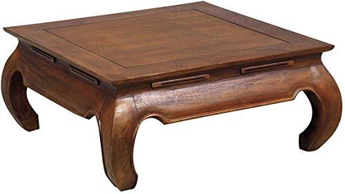 AUBRY GASPARD Table Basse Carre en Teck 80 x 80 cm