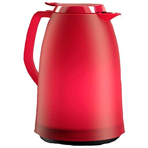 Emsa 514977 Isolierkanne, 1.5 Liter, Quick Tip Verschluss, 100% dicht, Pink-Rot Mambo