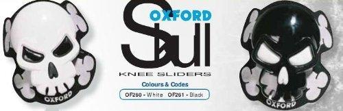 Oxford Motorrad Skull Knieschleifer weiß (Paar) (Motorrad Oxford)