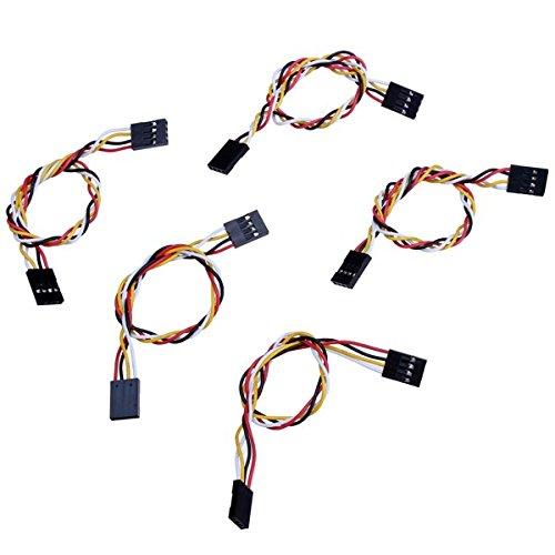 Bluelover 100Pcs 4 Pin 20Cm 2.54Mm Jumper Kabel Dupont Line Weiblich Zu Weiblich