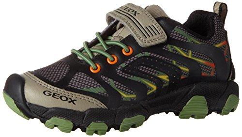 Geox J Magnetar A, Sneakers Basses Garçon Beige (Beige/Militaryc0061)