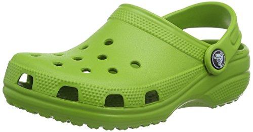Crocs classic clog kids, sabot unisex - bambini, verde (parrot green), 22/24 eu