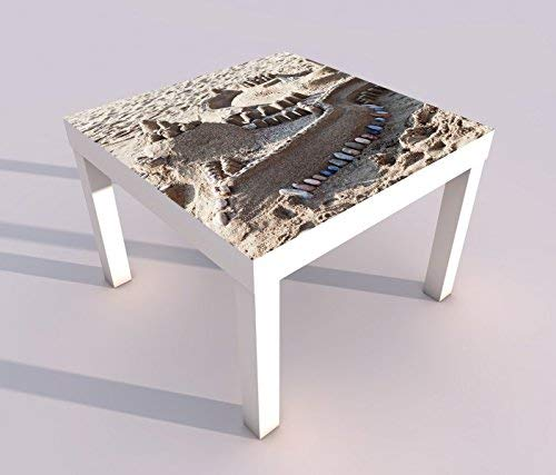 Diseño - Mesa UV Impresión 55x55cm Castillo Arena