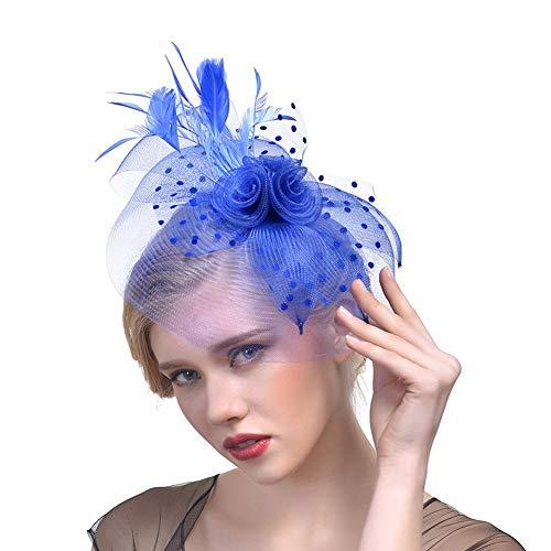 Cracklight Braut Net Federn Sinamay Flower Headwear Hochzeitskleid Foto Clip Hut Kopfschmuck...