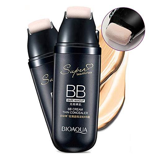 RX BB Creme Anti-Aging Feuchtigkeitscreme Concealer mit Scrolling Roller für Gesicht Make-up 30g (Light Beige) -