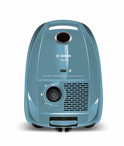 Bosch BGL3A212 GL-30 - Aspirador con bolsa compacto, 600 W, sistema PowerProtect, color azul claro
