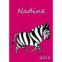 2018: personalisierter Kalender 2018 - Nadine - DIN A5 - eine Woche pro Doppelseite