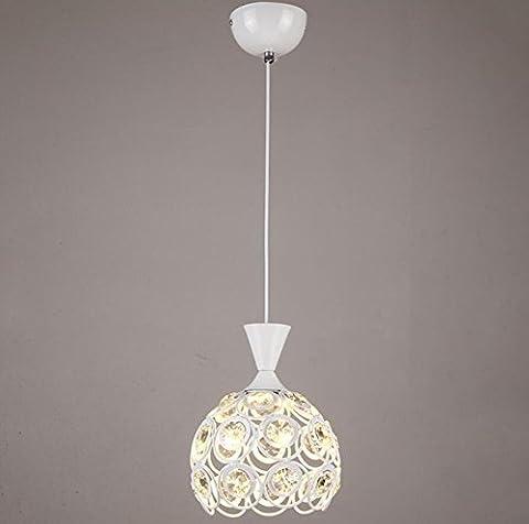GL&G Modernes Eisen-Licht Hohles Esszimmer Wohnzimmer-Kronleuchter Pendelleuchte für Hauptdekorationbeleuchtung, LED-Birne eingeschlossen, warmes weißes Licht,1 head,18*24cm