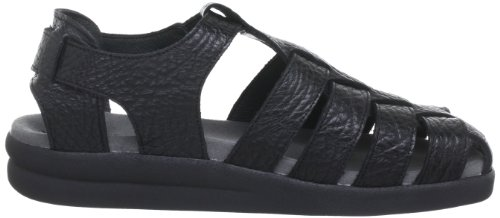 Mephisto Mens Sam Leather Sandals Noir