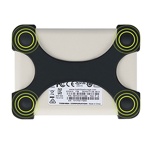 Schutzhülle für Festplatten aus Silikon, X-Type Schutzhülle für 6,3cm WD Seagate Toshiba schwarz schwarz (2t Portable Hard Drive)