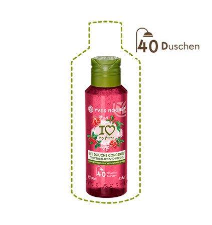 Duschgel-granatapfel-ingwer (Yves Rocher LES PLAISIRS NATURE Duschgel-Konzentrat Granatapfel-Rosa Pfeffer, ultra ergiebige Pflegedusche, 1 x Flacon 100 ml)