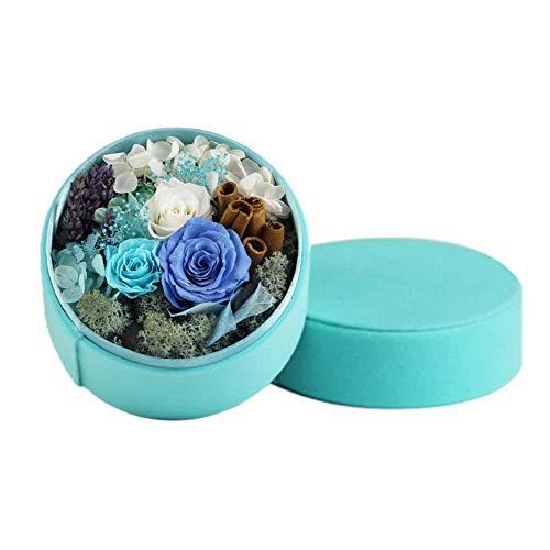 Wovemster fiori finti freschi, deco artificiali rose plastica nuziale san valentino bouquet da sposa per la casa giardino party disposizione dei (blu)