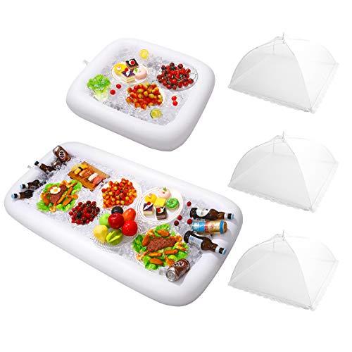 Tablett Bier Getränke Obst Eis Halter Luftmatratze Salat Servier Bar Sommer Pool Party Picknick Zubehör ()