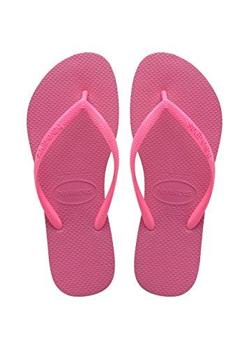 Havaianas Slim Infradito Donna, Rosa (Shocking Pink 8447), 39/40 EU (37/38 Brazilian)