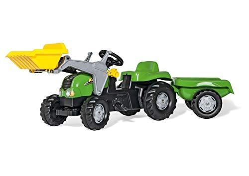 Rolly Toys RollyKid-X Trettraktor mit Anhänger (mit Frontlader, Alter 2,5 - 5 Jahre, Heckkupplung) 023134