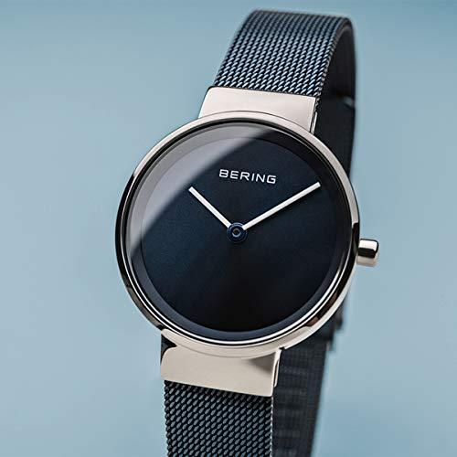 BERING Damen Analog Quarz Uhr mit Edelstahl Armband 14526-307