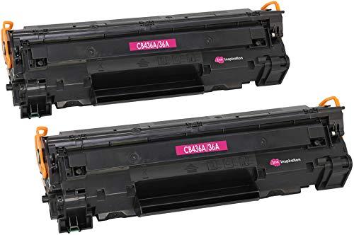 2 INK INSPIRATION® Premium Toner kompatibel für HP CB436A 36A Laserjet P1505 P1505n P1506 M1120 MFP M1120n MFP M1520 M1522n MFP M1522nf MFP Canon i-SENSYS LBP-3250   2.000 Seiten
