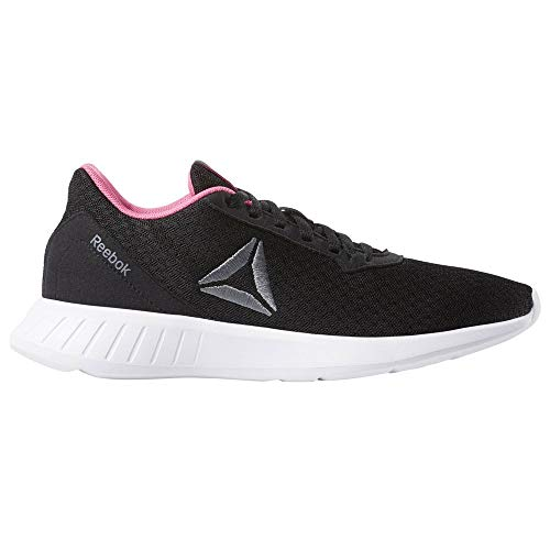 Reebok Lite, Scarpe da Trail Running Donna, Multicolore (Black/White/Solar Pink/Alloy 000), 39 EU