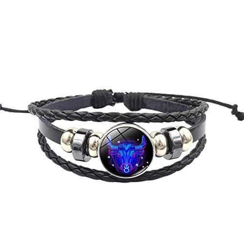 Home TüR Dekoration,Mode Frauen Konstellation Sternzeichen Anhänger Multilayer Handgemachte Armband L ()