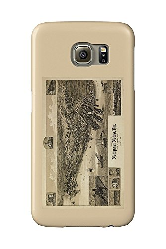 Newport News, Virginia - (1891) - Panoramic Map (Galaxy S6 Cell Phone Case, Slim Barely There)