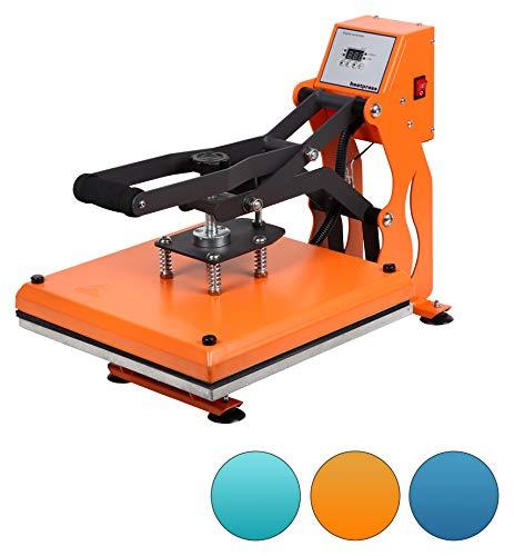 RICOO T438C-GS Transferpresse Textilpresse Textildruckpresse Klappbar Thermopresse Transferdruck Bügelpresse Textil T-Shirtpresse Sublimationspresse/Orange