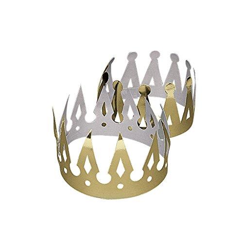 n Geburtstag Prinz Prinzessin König Königin Mitgebsel Fasching (Erwachsene Verstellbar König Krone)