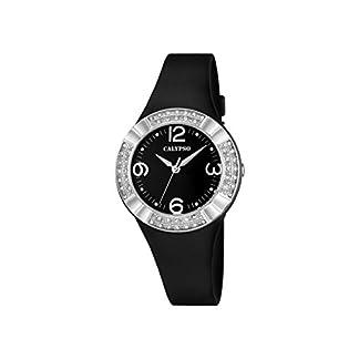 Calypso–Reloj de Mujer de Cuarzo con Negro Esfera analógica Pantalla y Correa de plástico en Color Negro K5659/4