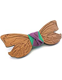 GIGETTO Noeud papillon en bois, Fait main, Homme Femme, Limited Edition DREAMS