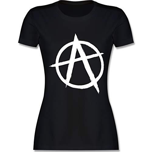 Festival - Anarchie A - M - Schwarz - L191 - Damen Tshirt und Frauen T-Shirt (Anarchie-shirt Für Frauen)
