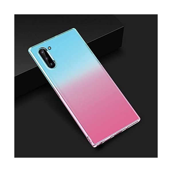 Oihxse Compatible with Samsung Galaxy S8+Plus Case Chic Clear Gradient Colour Design Ultra Slim Back Cover Skin, Soft Silicone Wireless Charge Shockproof Glitter TPU Bumper Shell-Blue Pink Oihxse 🌈 Slim fit with [Samsung Galaxy S8+Plus ONLY], do not fit for other models. This rubber silicone gel is easily access to all buttons and ports such as headphone jack, charger port, volume button, mute key, etc, while keeps the Samsung Galaxy S8+Plus sensitive response. 🌈 Designed as ultra thin chic [Crystal Clear Gradient Colour] appearance, not only can show the beauty of original smart phone, but also adds more unique taste and stylish sense. 🌈 Made from Soft [Shock Absorbing TPU]material, nontoxic and tasteless, which can protect your Samsung Galaxy S8+Plus from scratches, bumps, impacts, fingerprints and dings. 2
